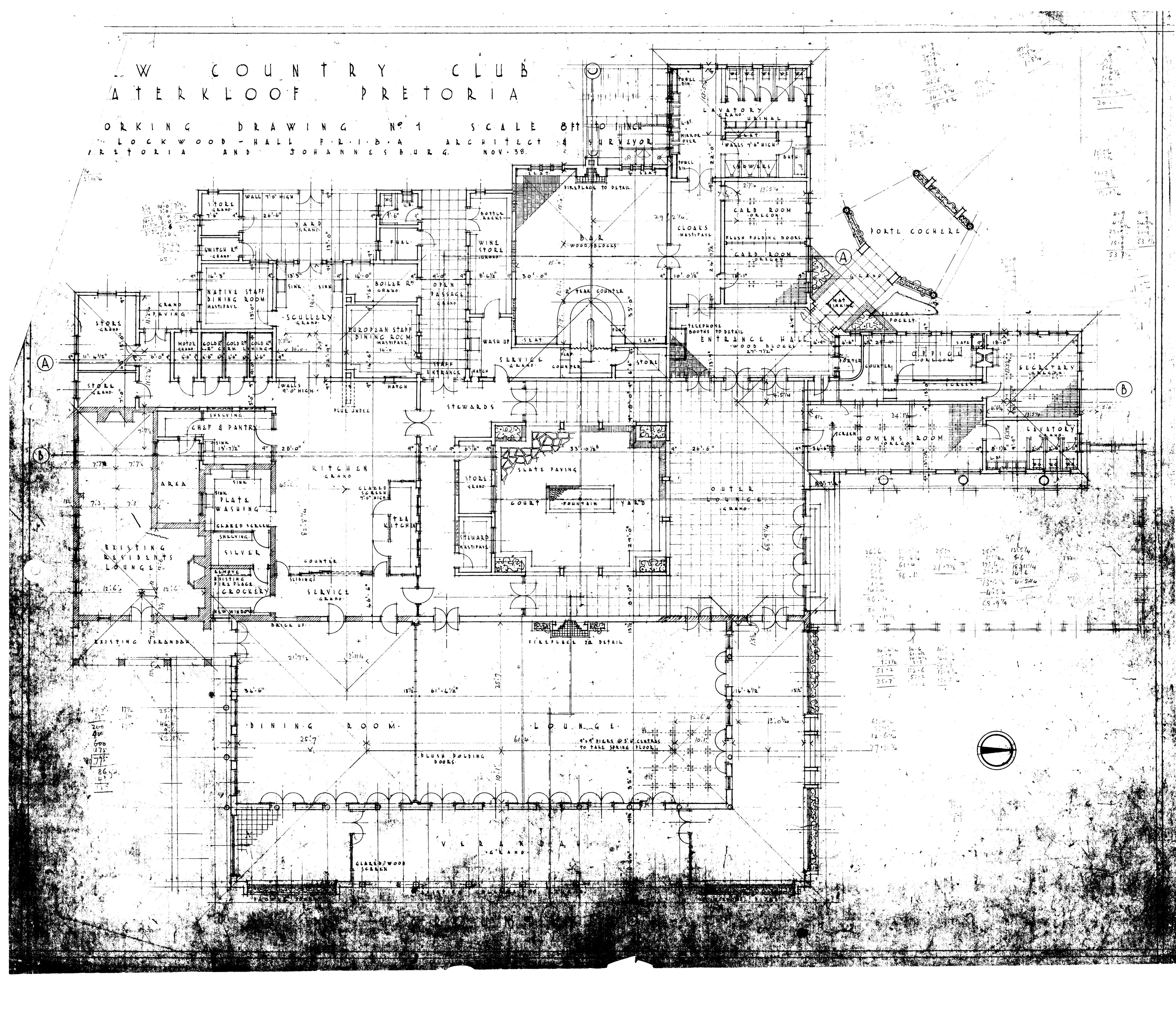 pretoria country club lockwood hall description ground floor plan