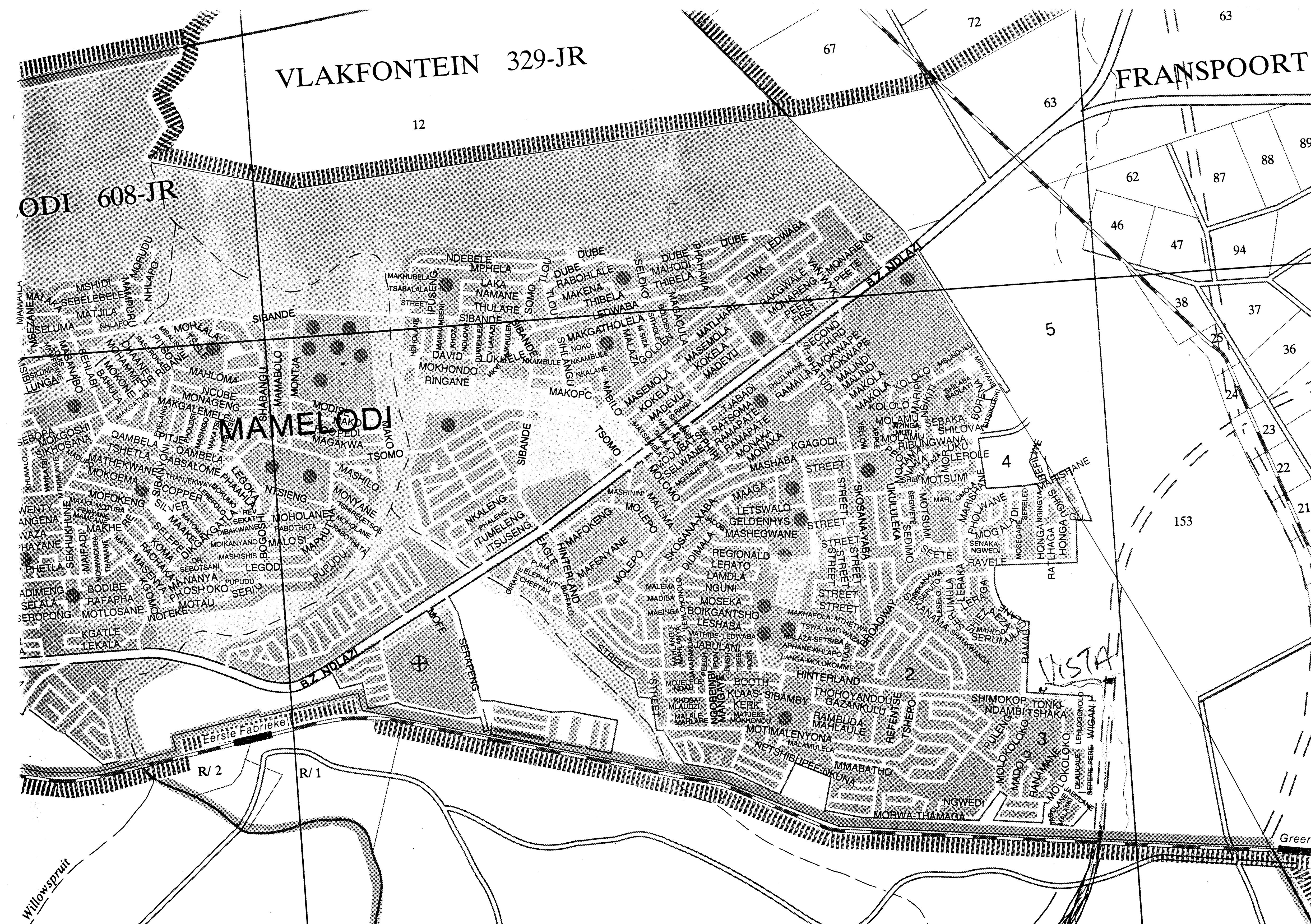 Mamelodi maps