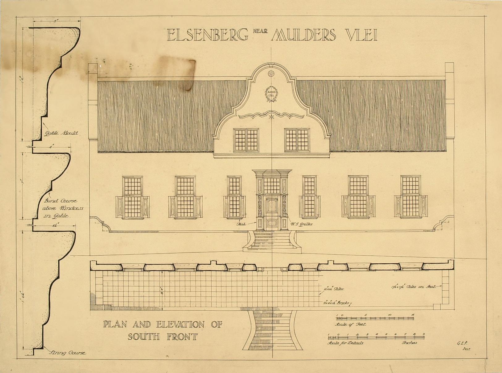 Elsenberg near mulders vlei for Old south house plans